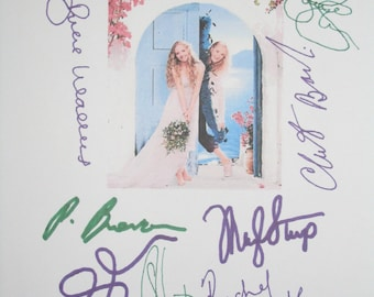Signed Mamma Mia Film Movie Script Screenplay Autograph Amanda Seyfried Meryl Streep Pierce Brosnan Colin Firth Stellan Skarsgård McDowall