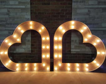 4ft Marquee light up Heart (single)