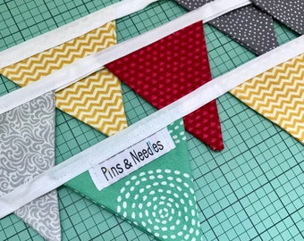 Mini fabric bunting / garland