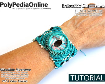 Macrame Gifts,Micro Macrame Tutorial, Macrame Pattern, How To Macrame, Polymer Clay Jewelry, DIY Jewelry Tutorial, Craft, Handmade Beads