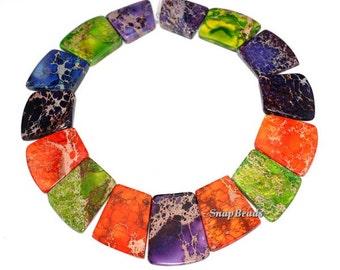 Sea Sediment Imperial Jasper Gemstone Loose Beads Graduated Set 15 Beads (90144051-108)
