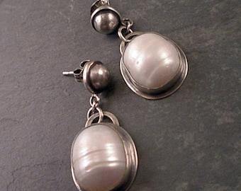 Wynn Earrings - Pearls an Sterling Silver