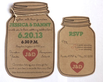Custom Mason Jar Invite & RSVP