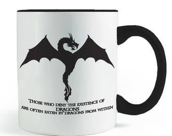 Eaten by Dragons Quote Mug