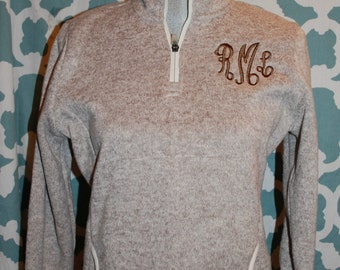 Monogrammed Fleece Heather Pullover  - Charles River Brand