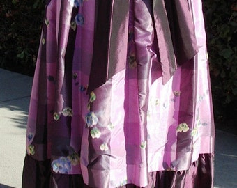 Designer Original Plaid Warp Silk Taffeta Long BALL Skirt  Size10 Item #658 Dresses & Gowns