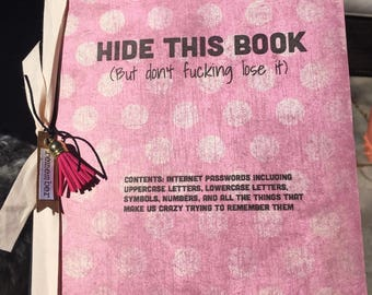 Hide This Book Password Journal