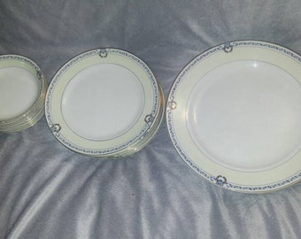 20 Piece Beautiful Pre WWII 1930's Hand Painted Noritake Morimura Dinnerware Pieces