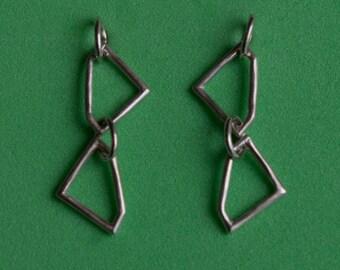 """Sterling silver """"Gem Shape"""" drop earrings"""