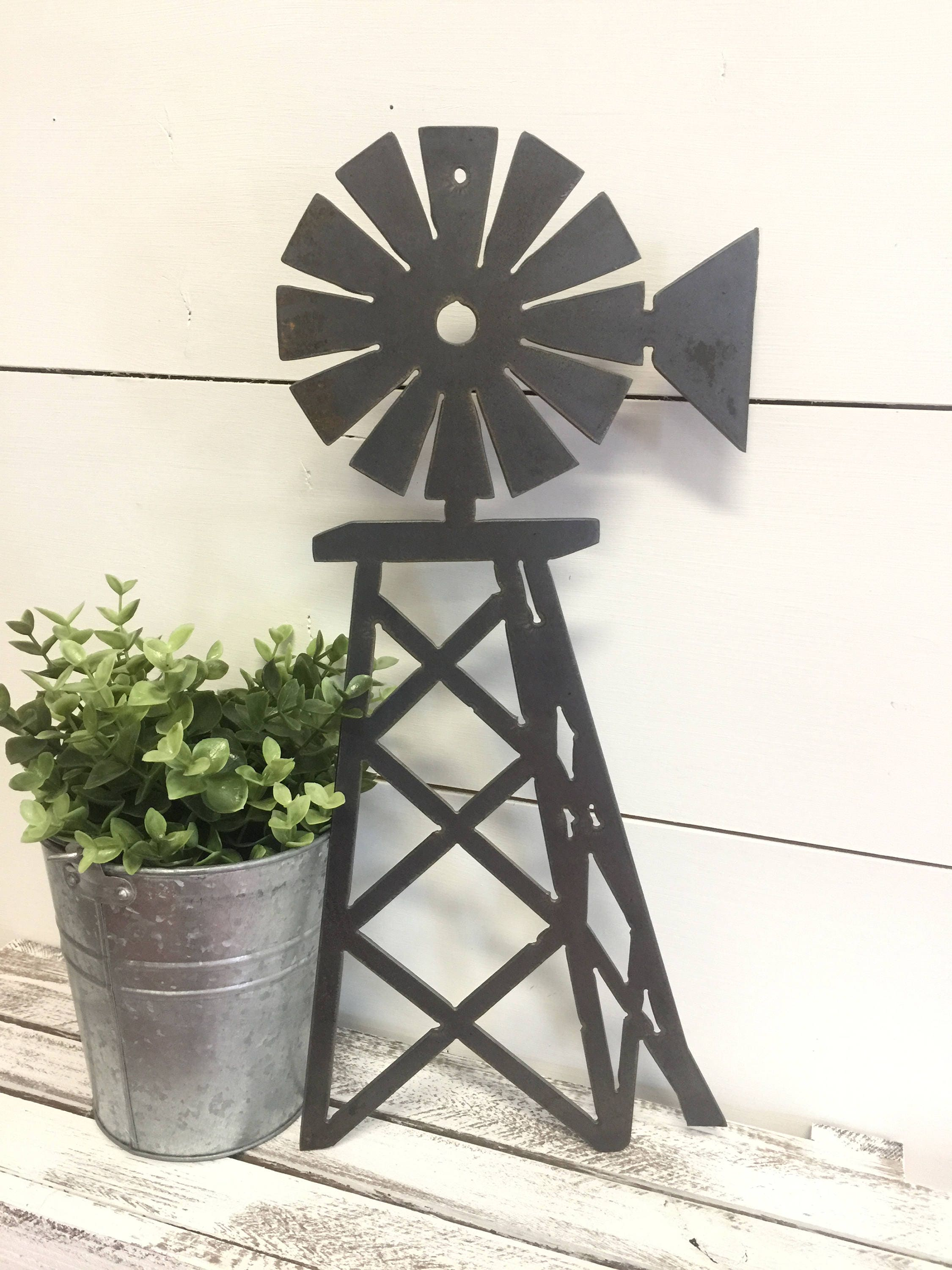 Windmill Decor Metal Windmill Windmill Wall Decor