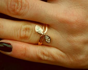 Marquise Ring,Rose Gold Ring,Silver Marquise Ring,925K Zircon Marquise Ring