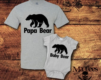 Fathers Day Gift, Father Son Matching Shirt, Dad and Baby Matching Shirts, Matching Outfits, Papa Bear, Baby Bear, T-Shirt, Shirt, Tee