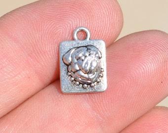 1  Silver Pug Dog Charm SC2187