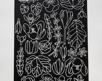 A3 Spring Flowers print