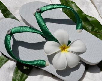 KIDS and TODDLER Flower Girl Wedding Party Flip Flops **Any Color**
