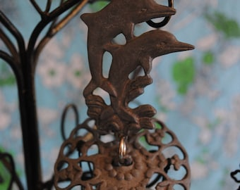 Metal Dolphin wind chimes