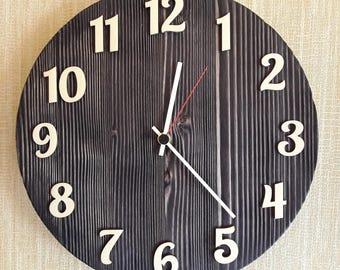 Wall clock , Wooden wall clock, Simple wall clock, Rustic wall clcok.