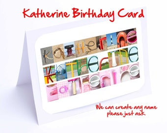 Katherine Personalised Birthday Card