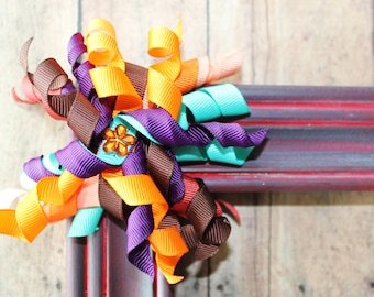 Fall Colored Korker Ribbon Clip.