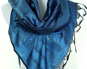 Solid Color Scarf (Turquoise)