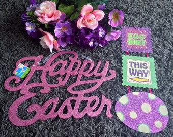 Fun Easter Spring Decor - Signs/Flowers