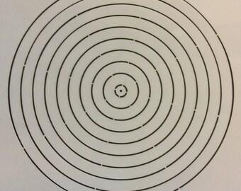 A4 2 part Mandala stencil kit - Set 2