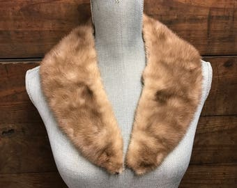 Vintage Brown Mink Fur Collar, Shades of Brown Fur Collar, Coat Collar, Vintage Jacket Collar, Coat Accessory