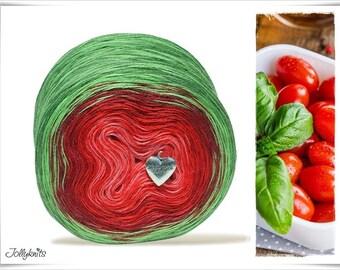 Gradient Yarn Merino Tomato 1'000m