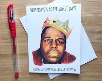Rapper Birthday Card, Hip Hop Music, Rap Birthday Card, Happy Birthday Card, Birthday Card for Boyfriend, Best Friend Birthday Party Gift