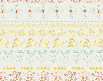 Tule Embroidered by Sun, Leah Duncan, Art Gallery Fabrics, 100% Cotton Fabric, TL-30026