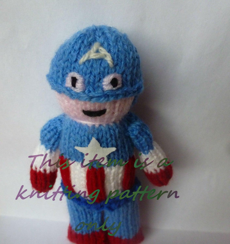 PDF knitting pattern: Captain America