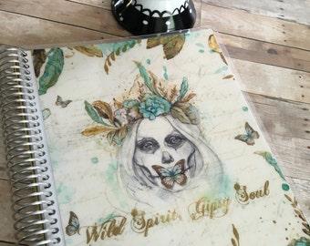 Planner Cover/Boho Skull