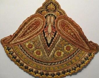 Antique Applique Art Nouveau Silk Gorgeous