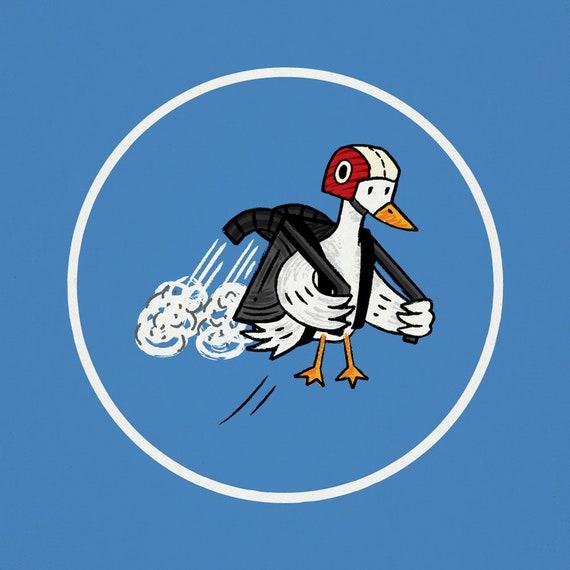 Jet Duck - art poster print by Oliver Lake - iOTA iLLUSTRATiON