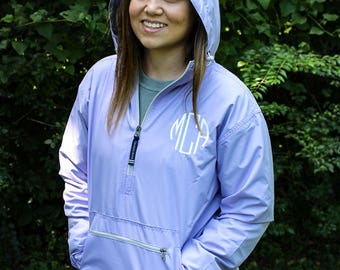 Monogrammed Charles River Chatham Anorak Jacket 5809 - Pullover, Monogrammed Windbreakers, Jackets for Women