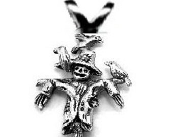 SCARECROW Pendant  Sterling SILVER Free Shipping