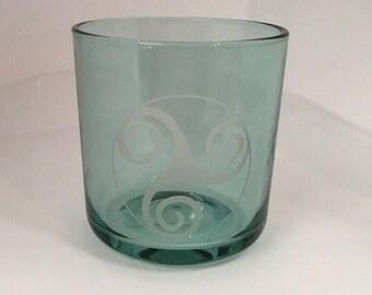 Celtic Knot Design Glass / Candle Holder