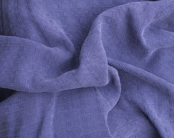 Purple Tencel Jaquard Woven Fabric by the Yard Squares