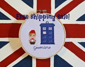 Geronimo - Doctor Who, 11th Doctor, Completed Cross Stitch