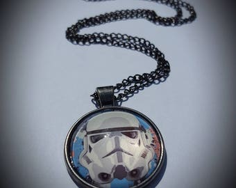 Star wars inspired Storm Trooper necklace