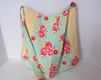 Flower 241 Tote - Riley Blake 241 Tote - Spring Summer Handbag
