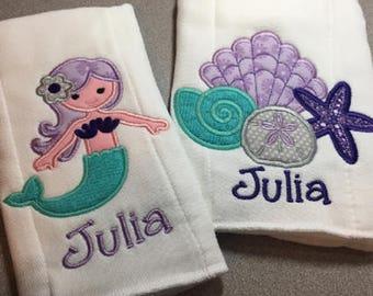 Baby Burp Cloths, Personalized Burp Cloth, Baby Burp Cloth, Burp Cloth Set, Baby Girl Burp Cloth, Baby Boy Burp Cloth, Newborn Gift