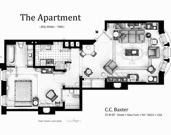 Floorplan of C.C. Baxter's apartment