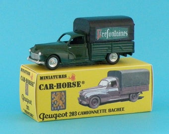 Car-Horse Peugeot 203 pick up wine préfontaines rim Dinky 100% made in France