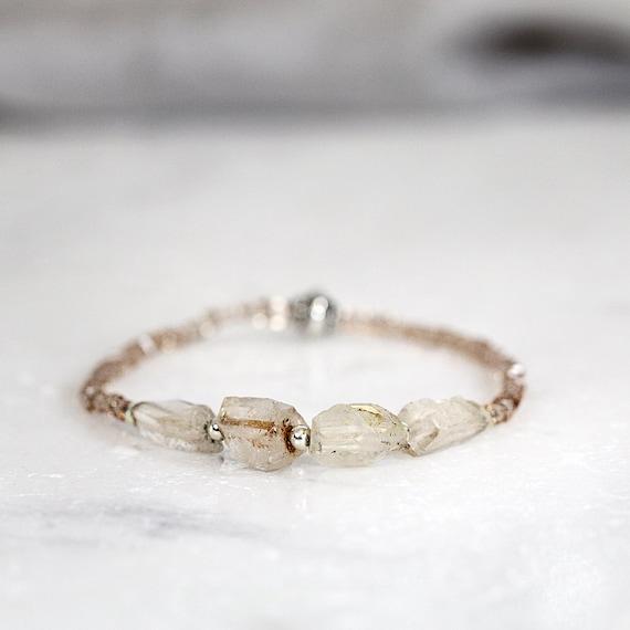 Raw Topaz Bracelet - November Birthstone Bracelet For Her