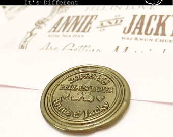 Custom Made Wax Seal Stamp | Letter Initial | Own Design | Personalized Service