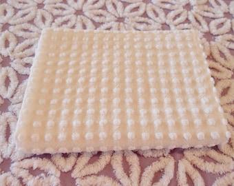 "Vintage Chenille Morgan Jones white popcorn fabric piece, 24"" x 24"" - 300-100"