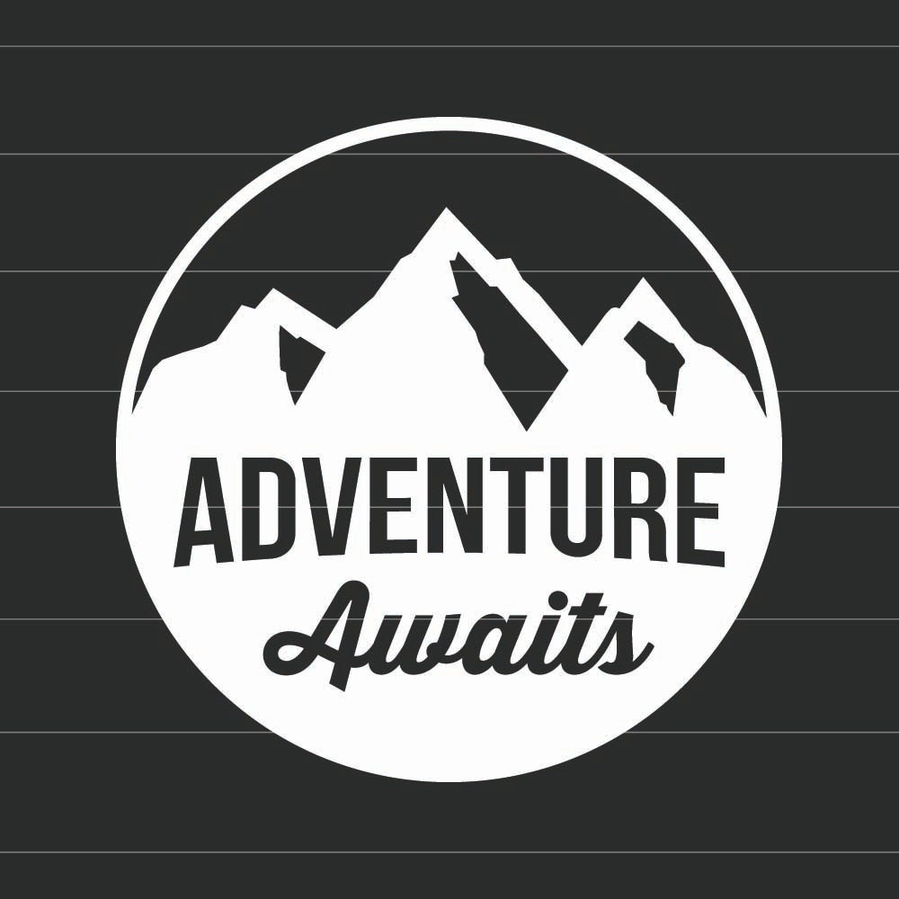 Adventure Awaits Vinyl Decal Sticker Choose Your Own Color - Make your own vinyl stickers for cars