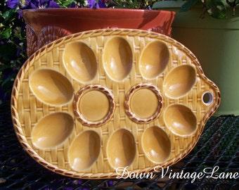 Vintage Egg Plate Gold