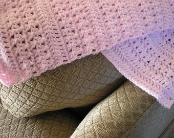 Baby Afghan - 36x36 - Pink